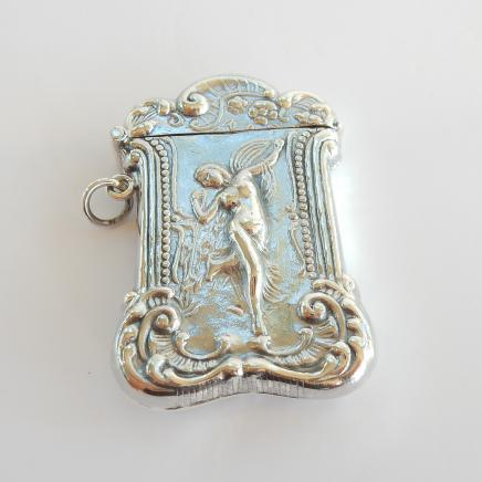 Photo of Solid Silver Romantic Cherub Vesta