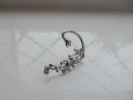Photo of Silver Art Nouveau Serpent Ear Cuff