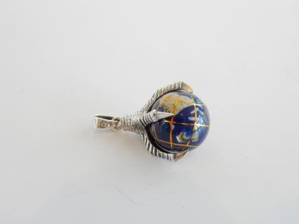 Photo of Sterling Silver World Globe Pendant