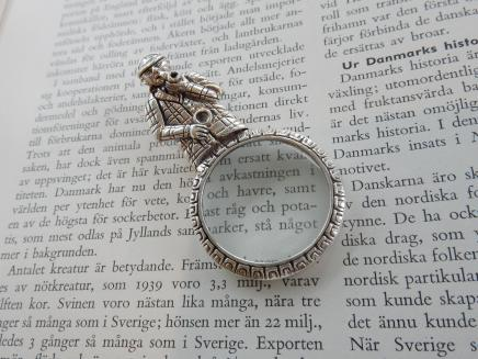 Photo of Sterling Silver Detective Magnifying Glass Pendant