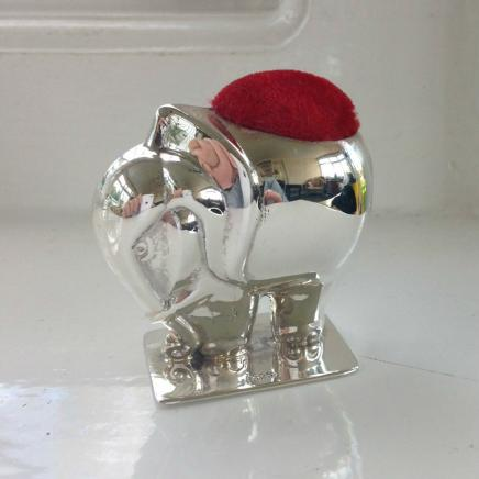 Photo of Large Sterling Silver Elephant Pin Cushion