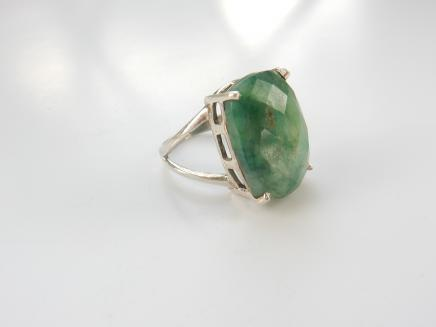 Photo of Sterling Silver Jade Ring