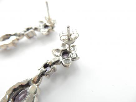 Photo of Sterling Silver & Purple Amethyst Earrings