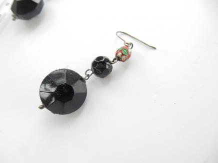 Photo of Vintage Black Droplet Earrings