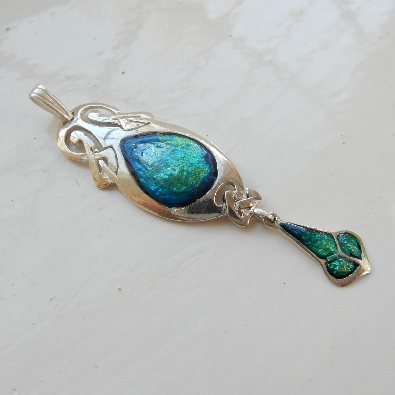 Photo of Art Nouveau Iridescent Enamel Pendant