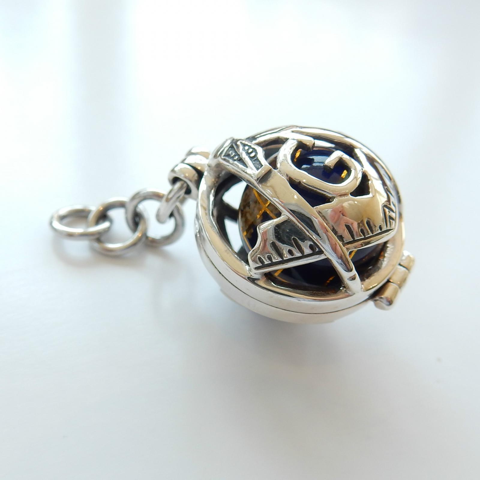 Photo of Sterling Silver Masonic World Globe Fob