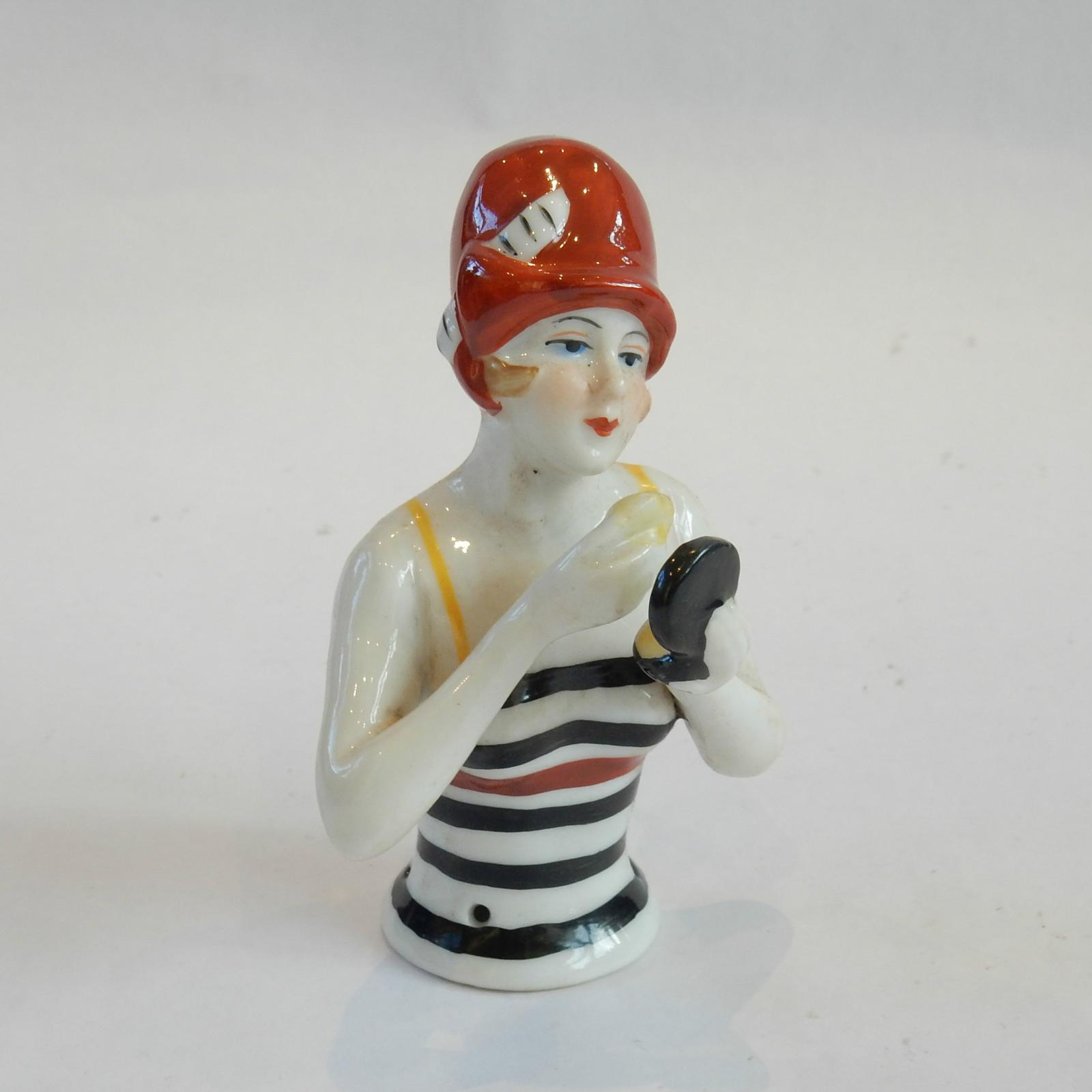 Photo of Art Deco Porcelain Flapper Pin Doll