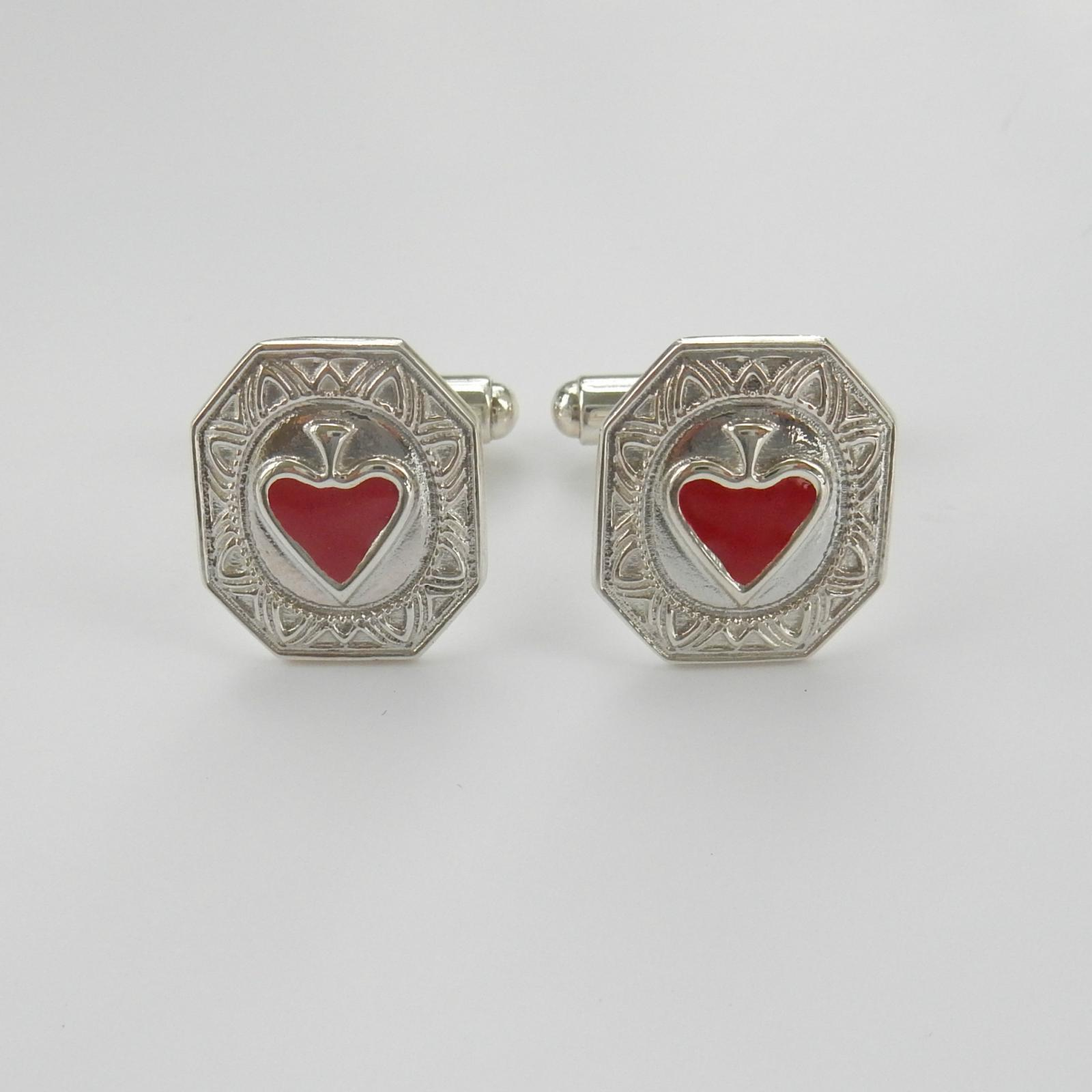 Photo of Sterling Silver Playing Card Cufflinks