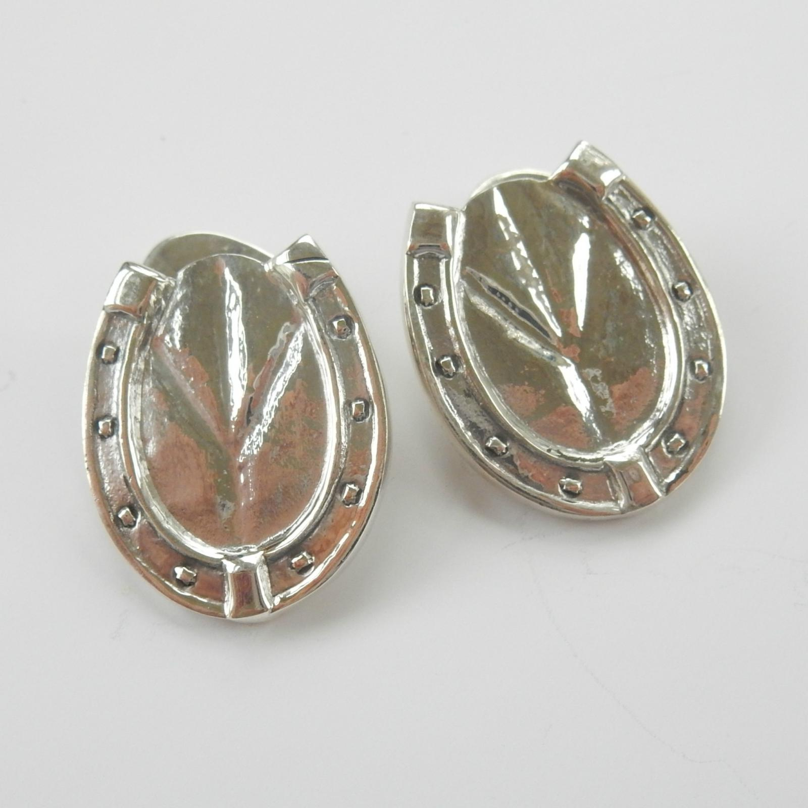 Photo of Sterling Silver Novelty Horse Shoe Cufflinks
