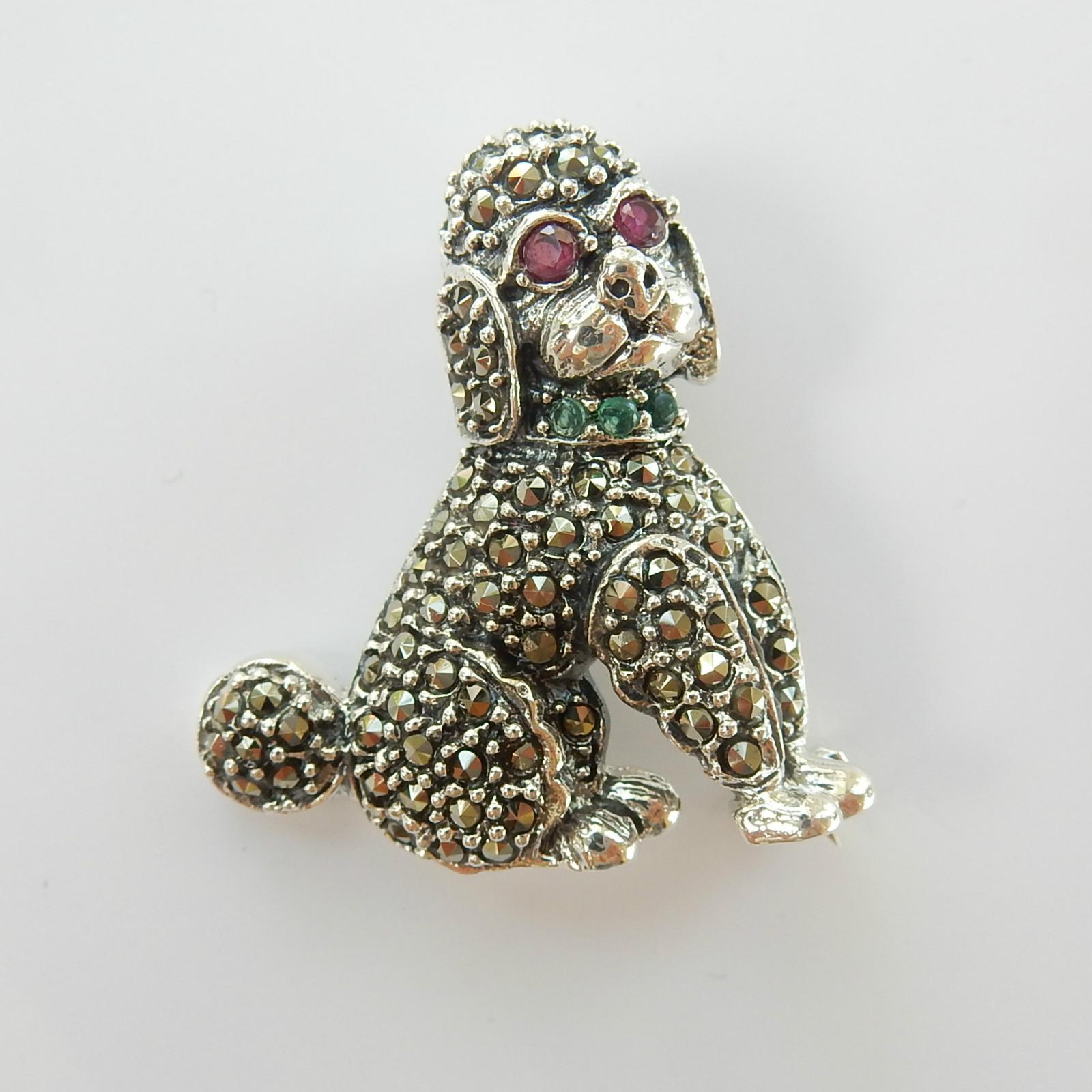 Photo of Marcasite Ruby & Emerald Dog