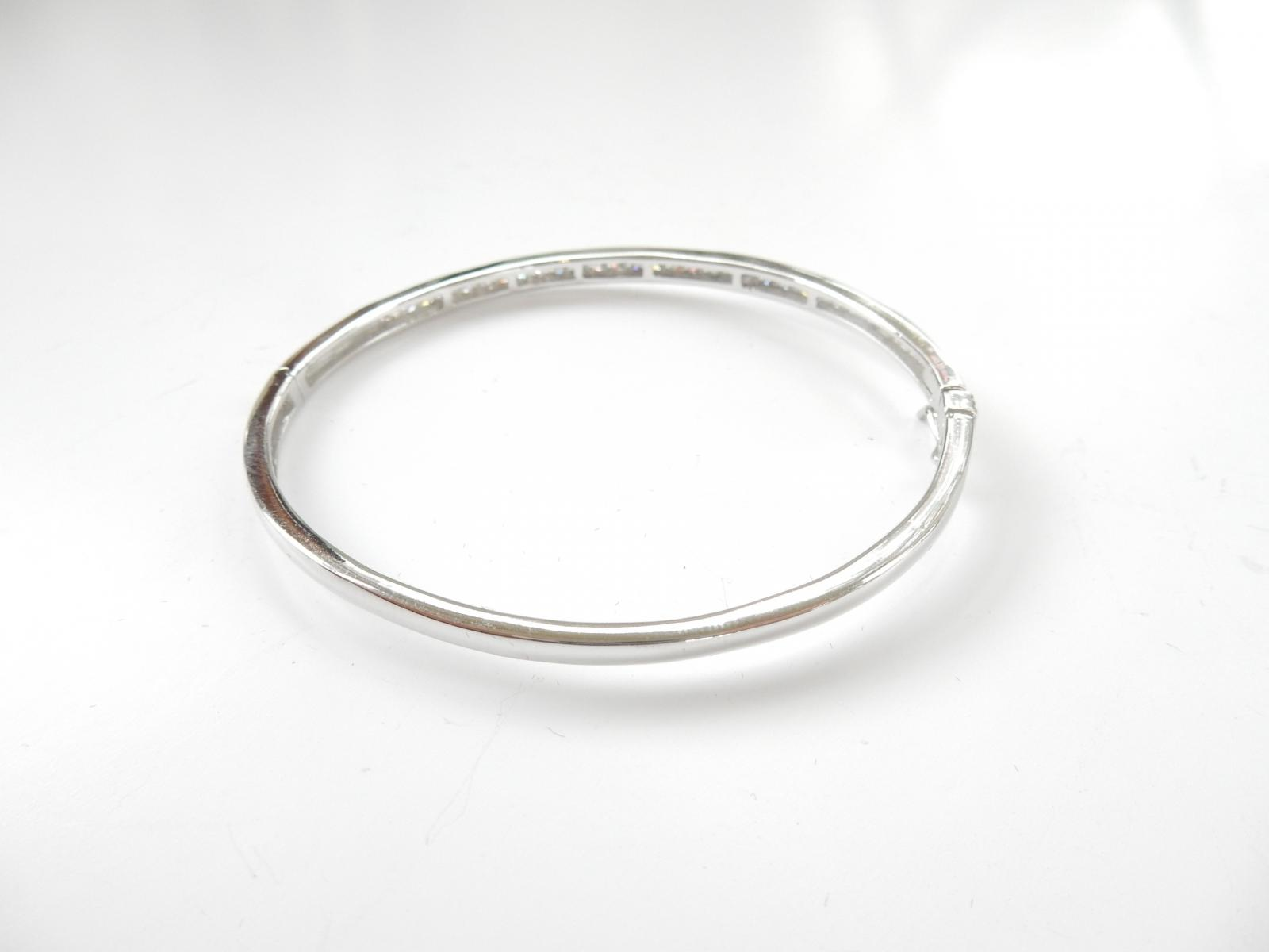 Photo of Delicate Sterling Silver & Cubic Zirconia Bangle