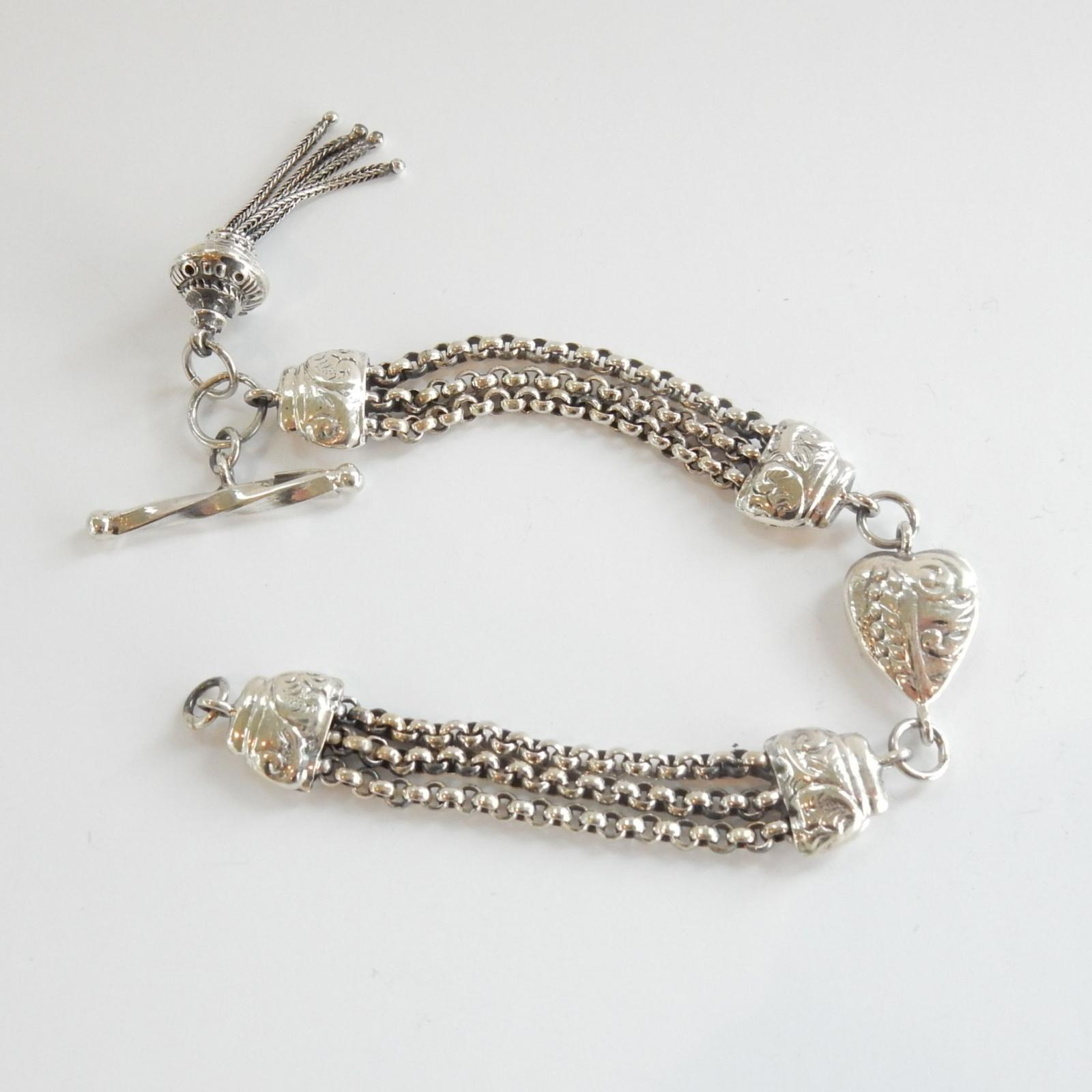 Photo of Sterling Silver T Bar  Albert Chain