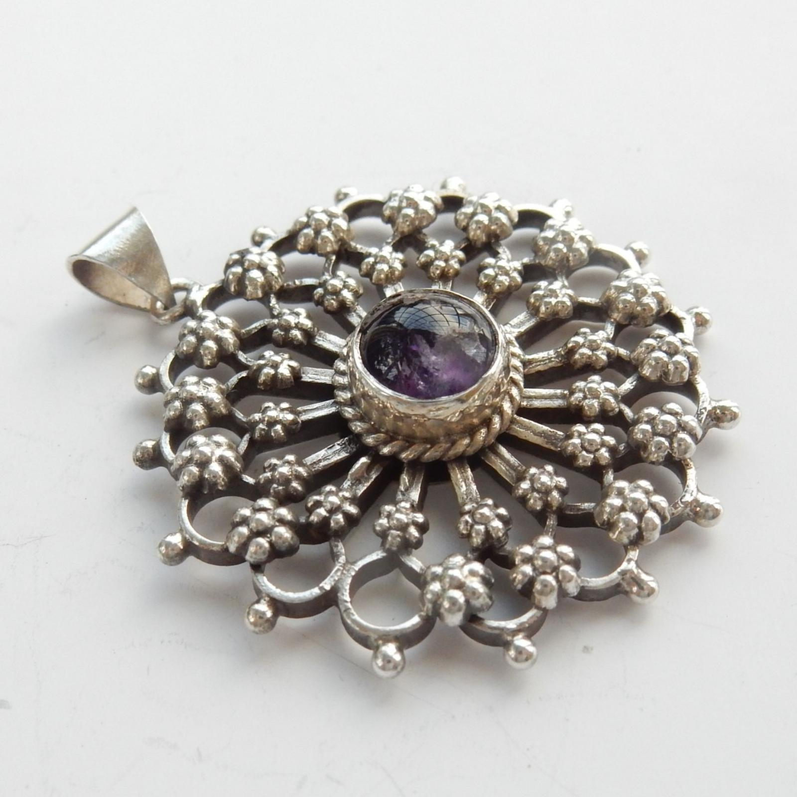 Photo of Vintage Filigree Silver Pendant