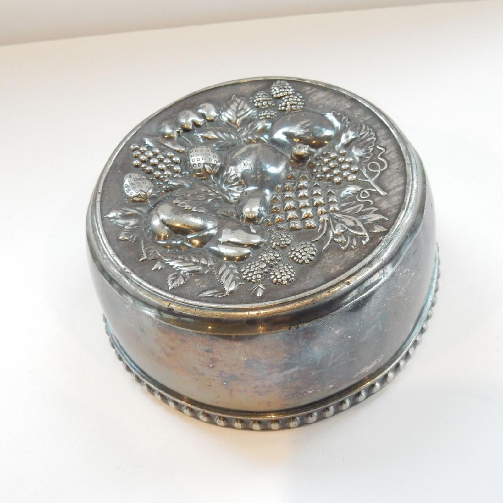 Photo of Antique Fruits of Forest Metal Jelly Mould