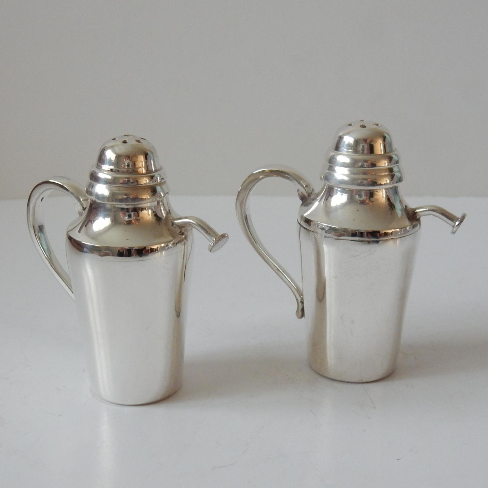 Photo of English Silver-Plated Watering Can Salt & Pepper Shaker