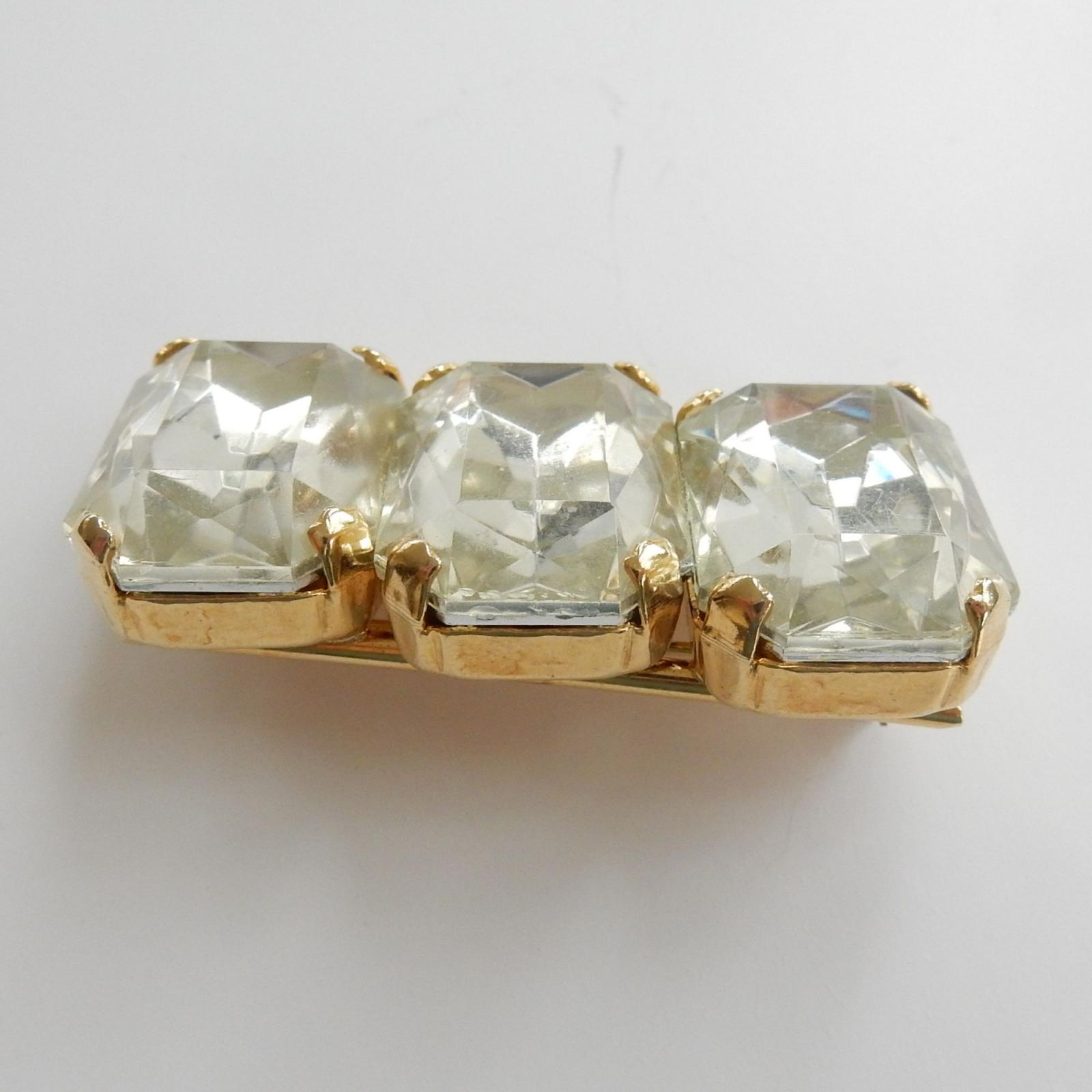 Photo of Vintage Paste Stone Bar Brooch