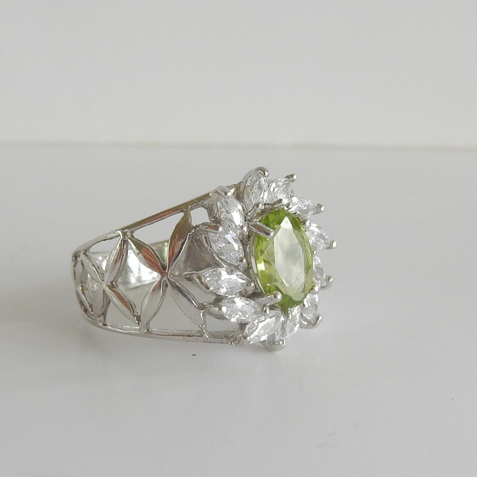 Photo of Solid Silver Peridot Ring