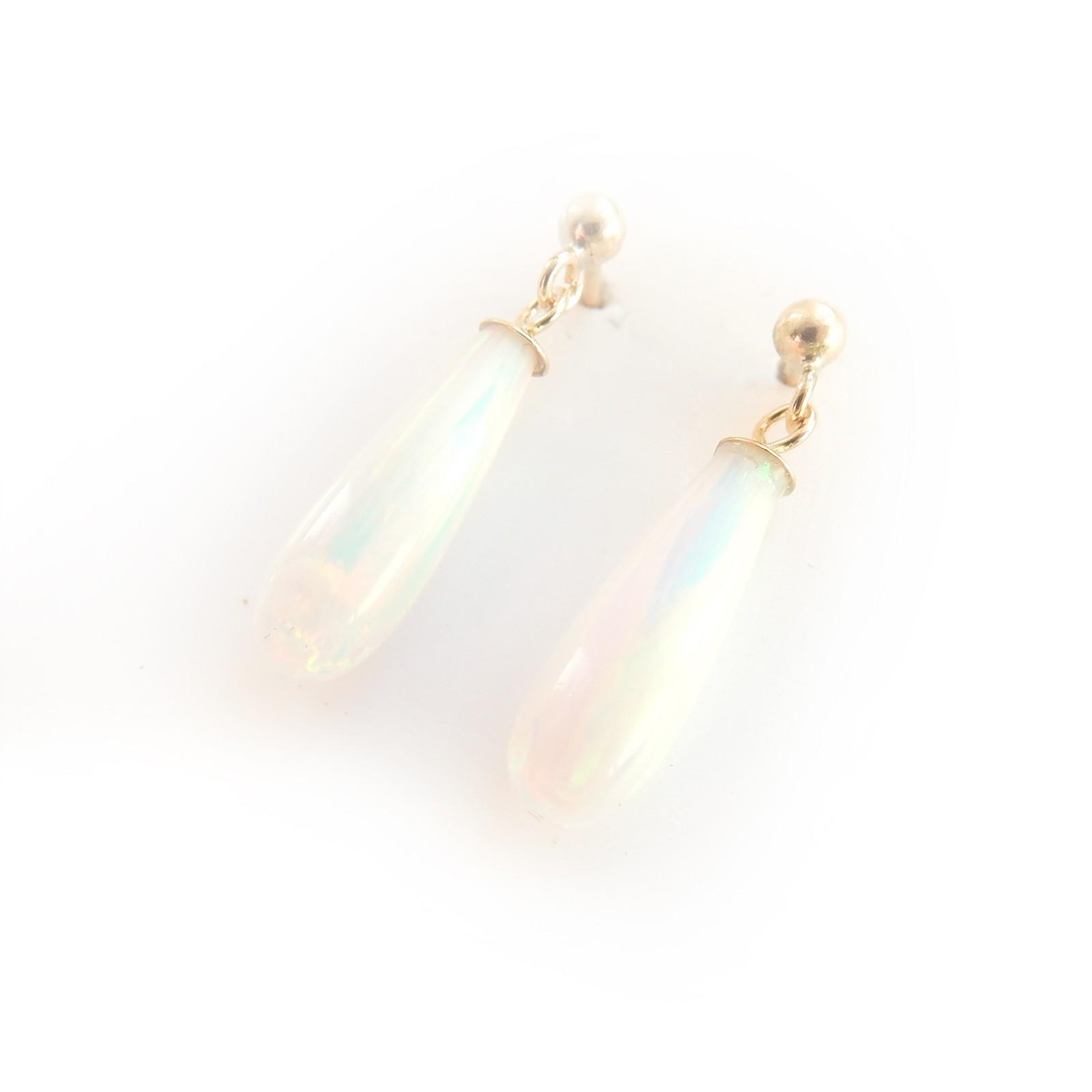 Photo of 9 Carat Gold Genuine Opal Drop Earrings Fine Jewelery