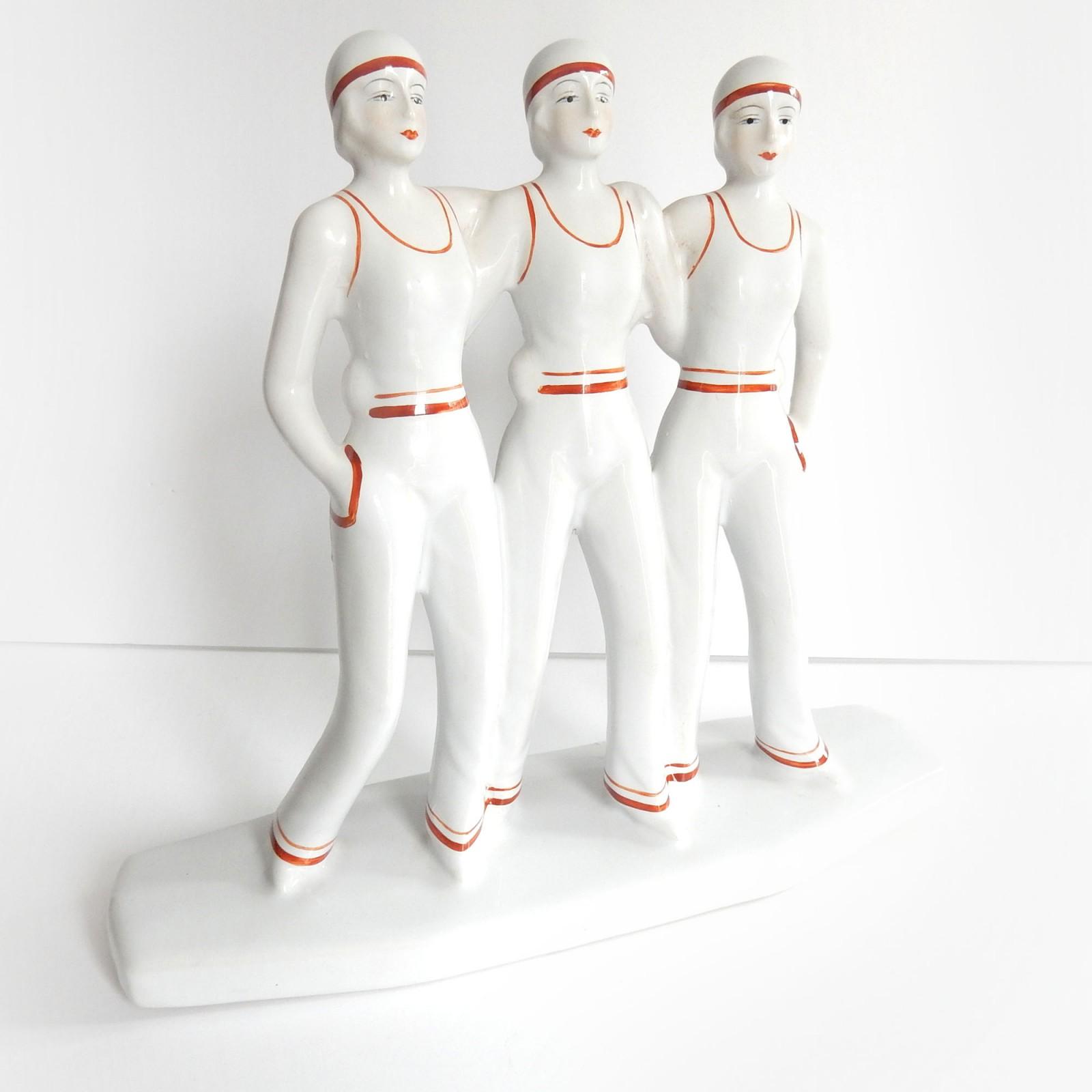 Photo of Art Deco Porcelain Bathing Ladies Figurine