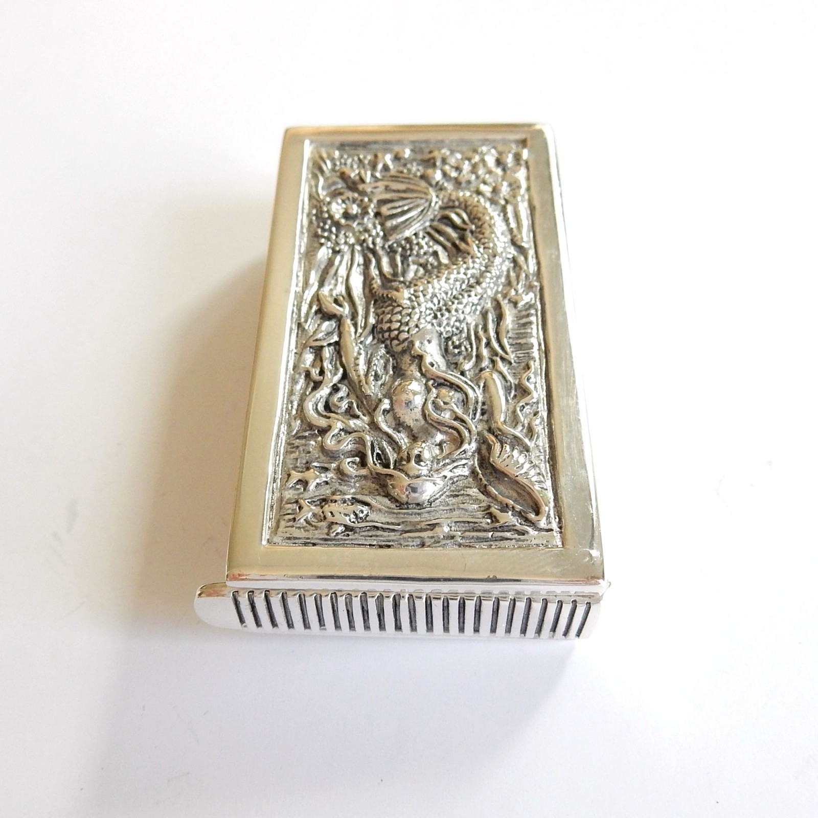Photo of Continental Silver Mermaid Seashell Vesta Match Safe