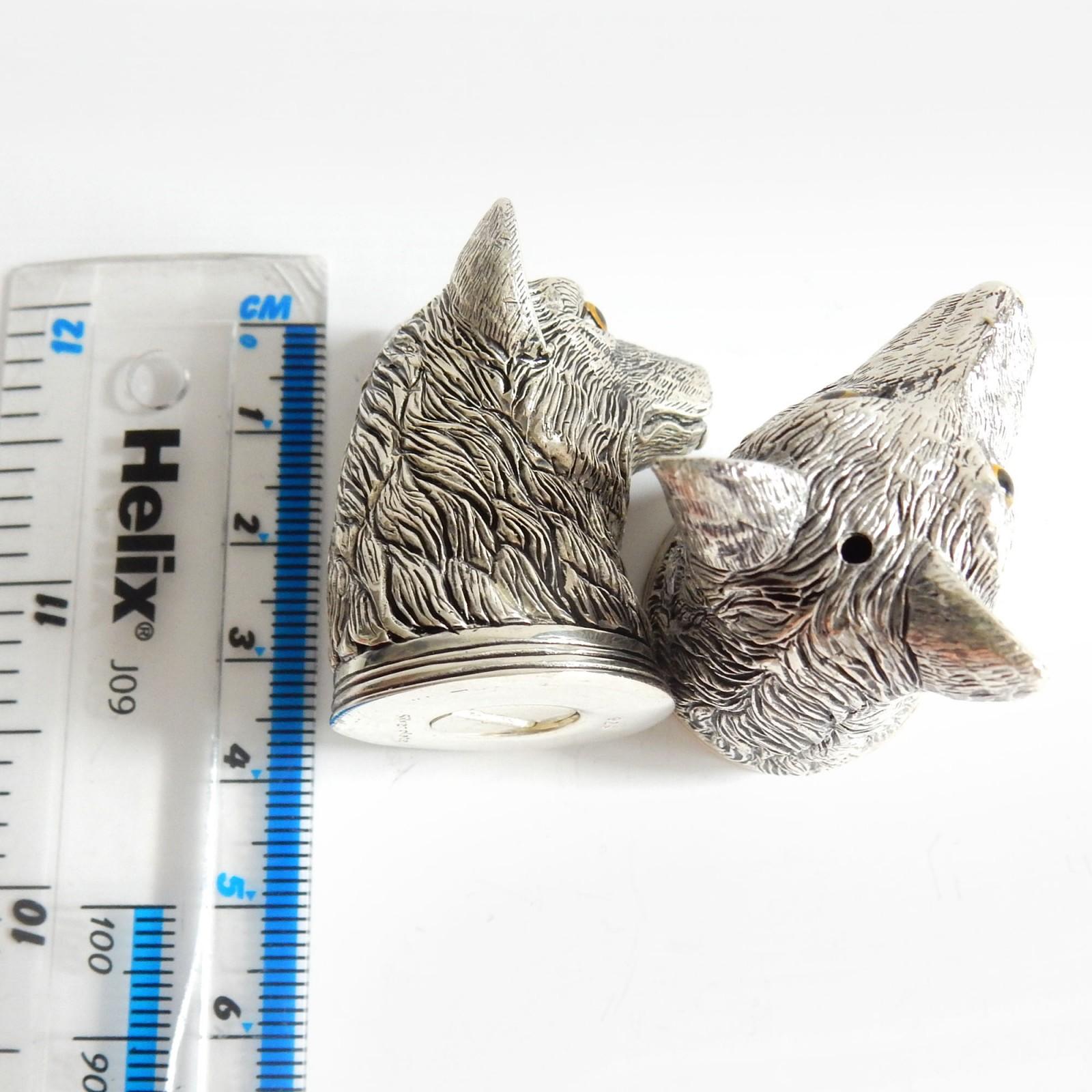 Photo of Novelty Silverplate Fox Salt & Pepper Pot