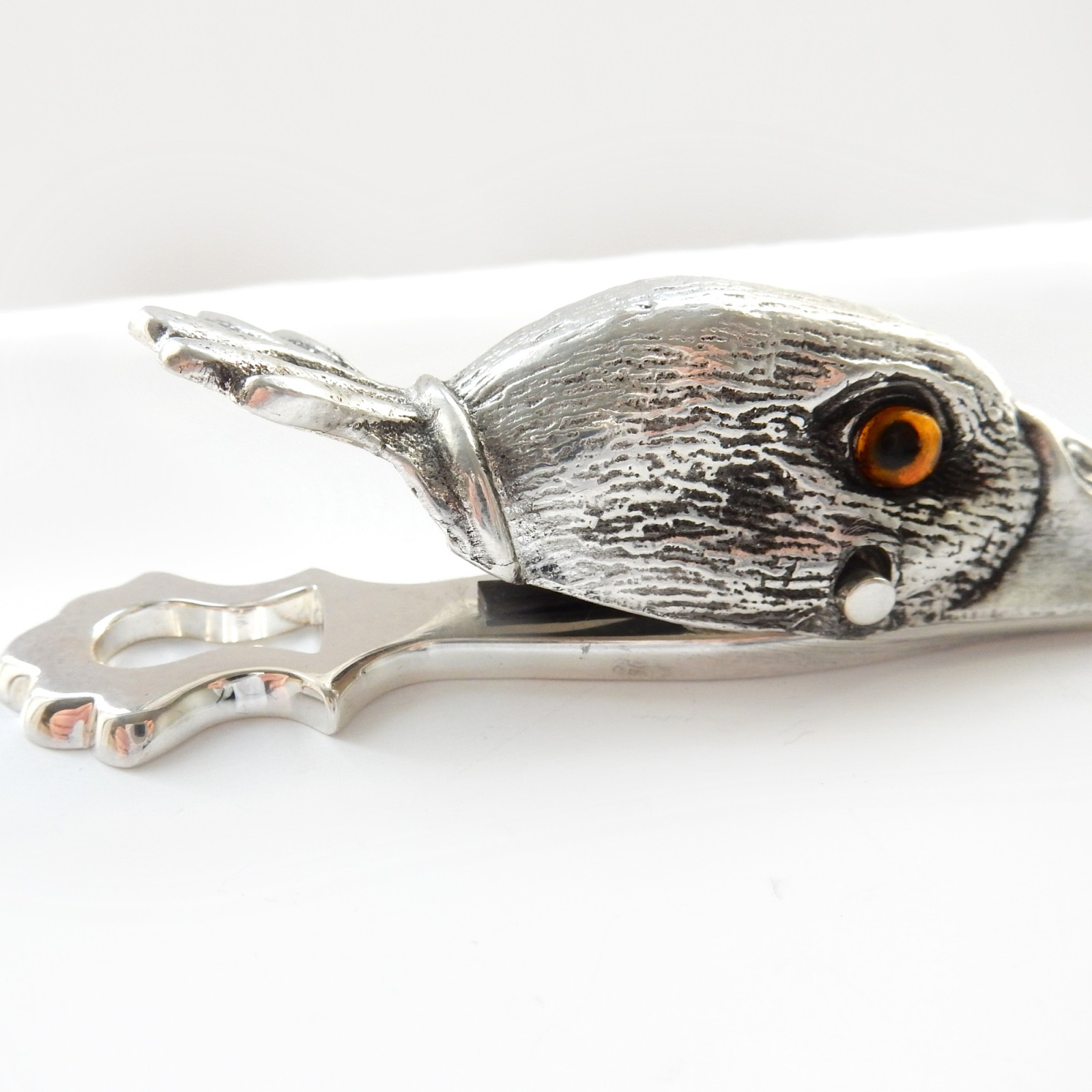 Photo of Novelty Silverplated Duck Head Letter Clip Desk Top Office Accessory