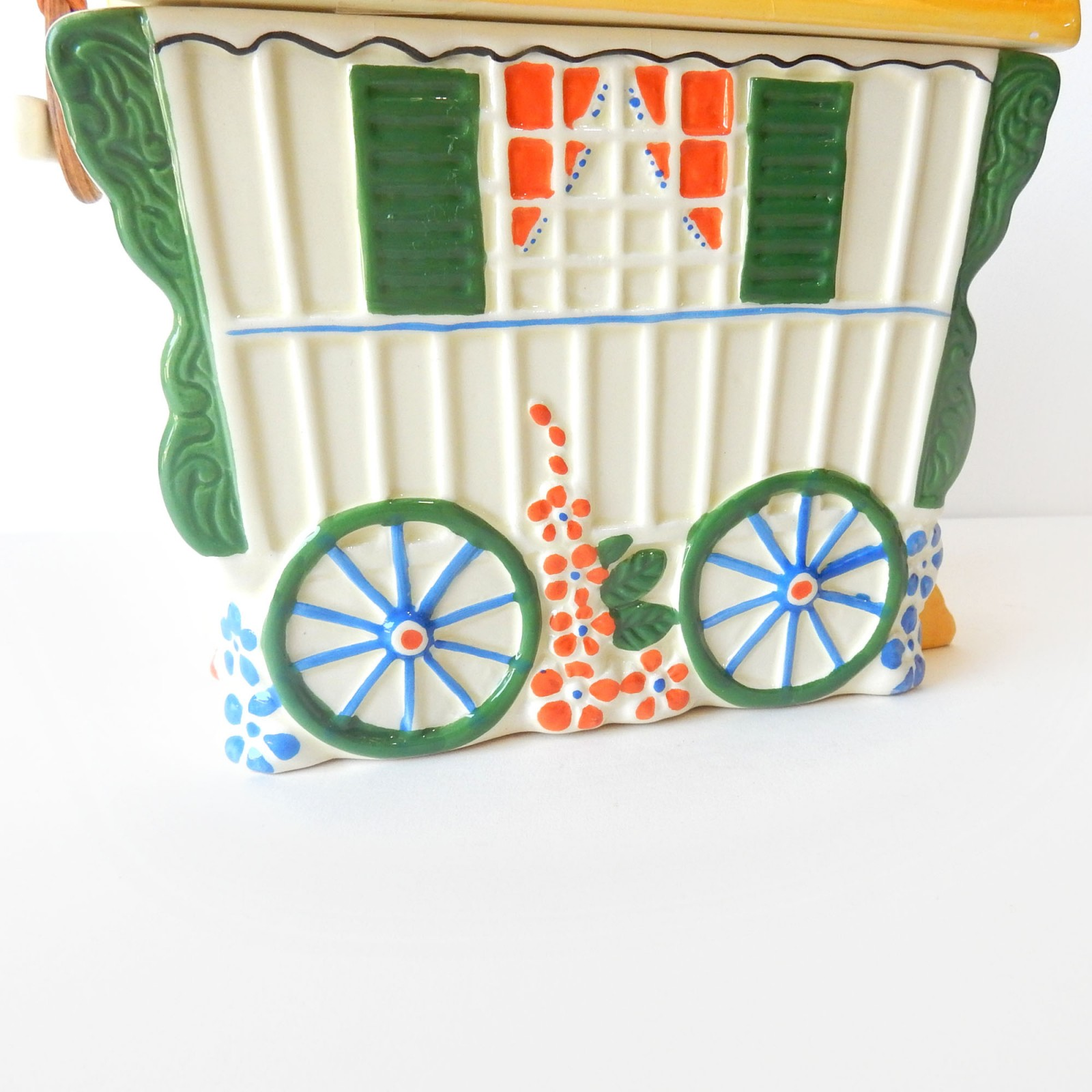 Photo of Old Romany Bone China Caravan Biscuit Barrell
