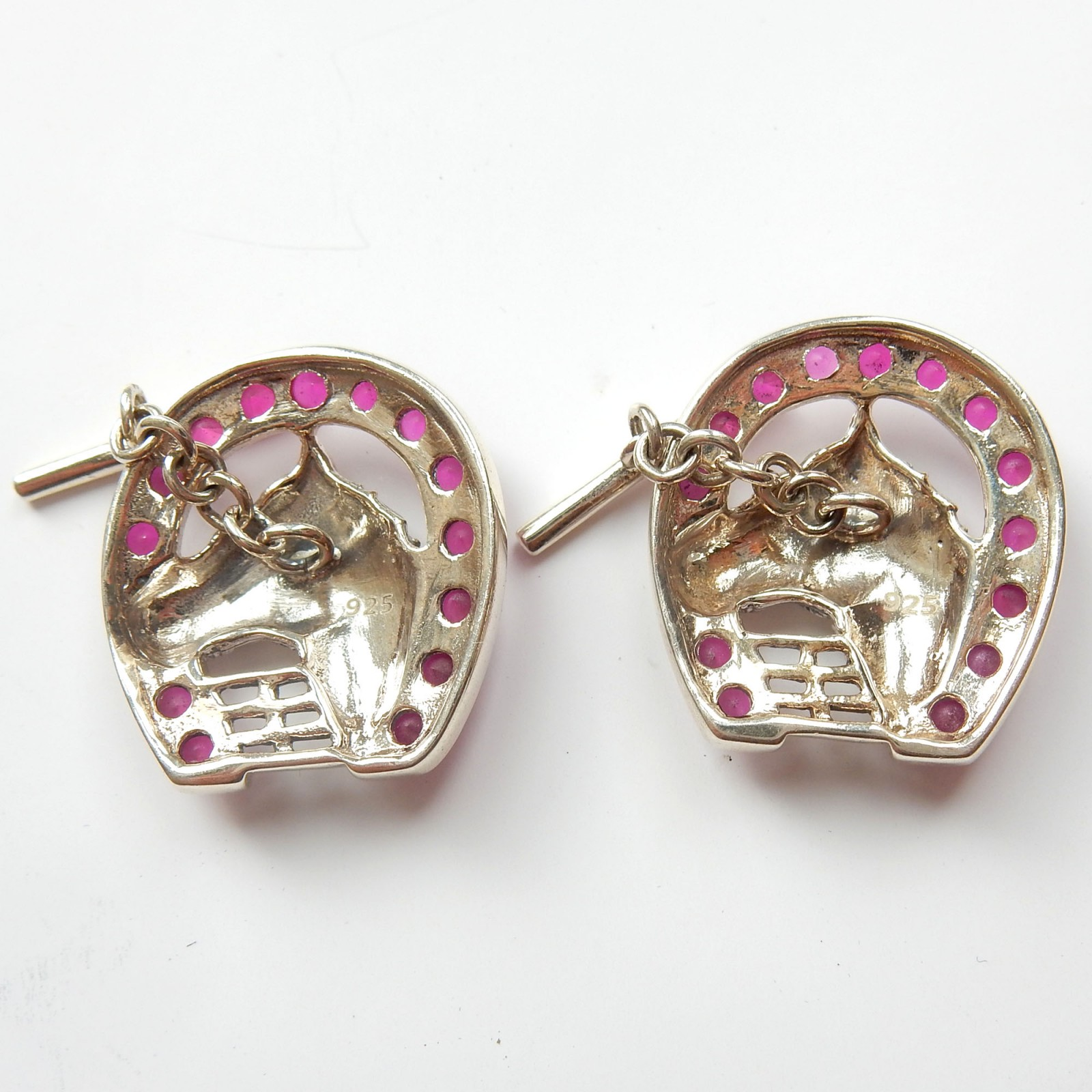 Photo of Ruby Horse Cufflinks Sterling Silver