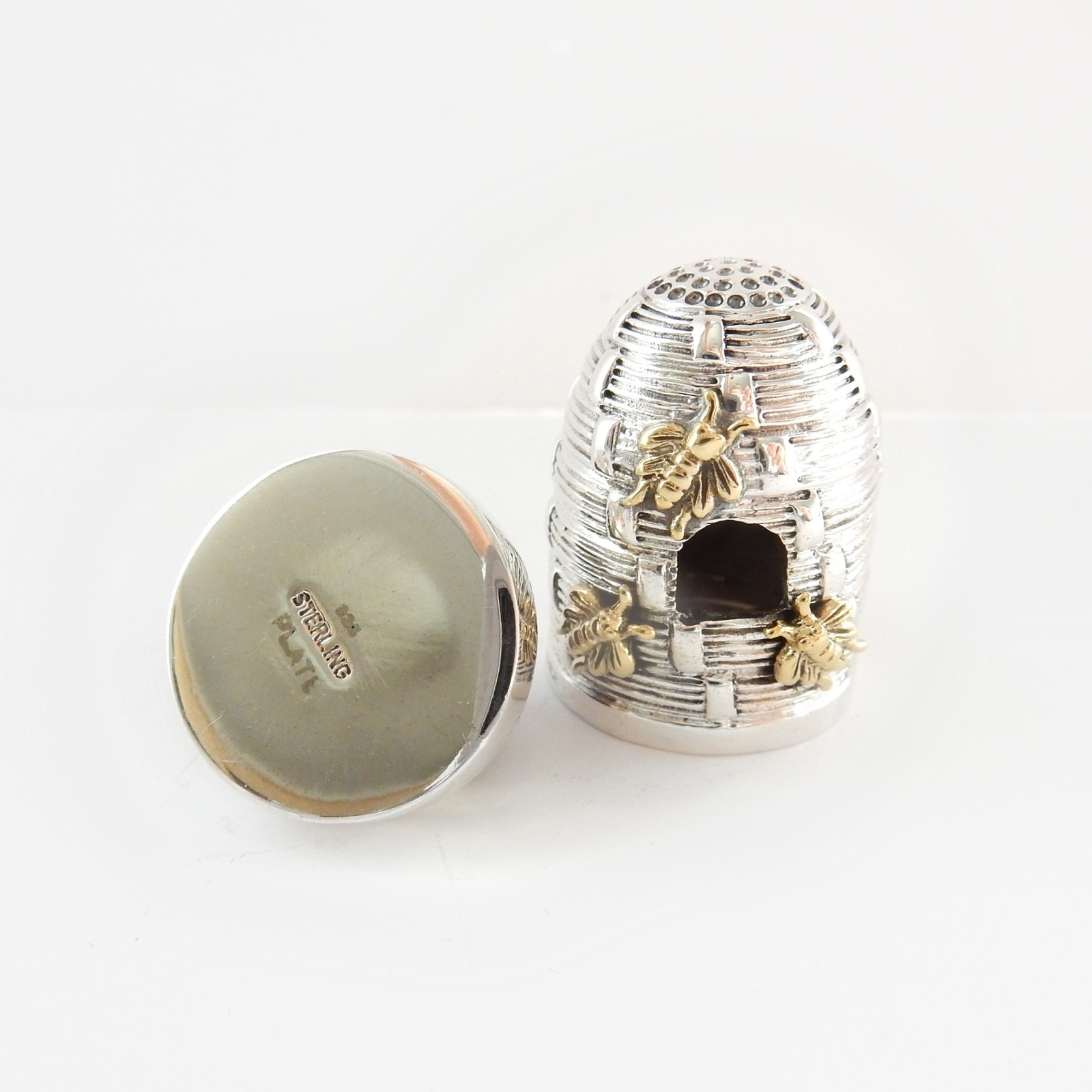 Photo of Silver & Gold Cross Beehive Thimble Pin Cushion