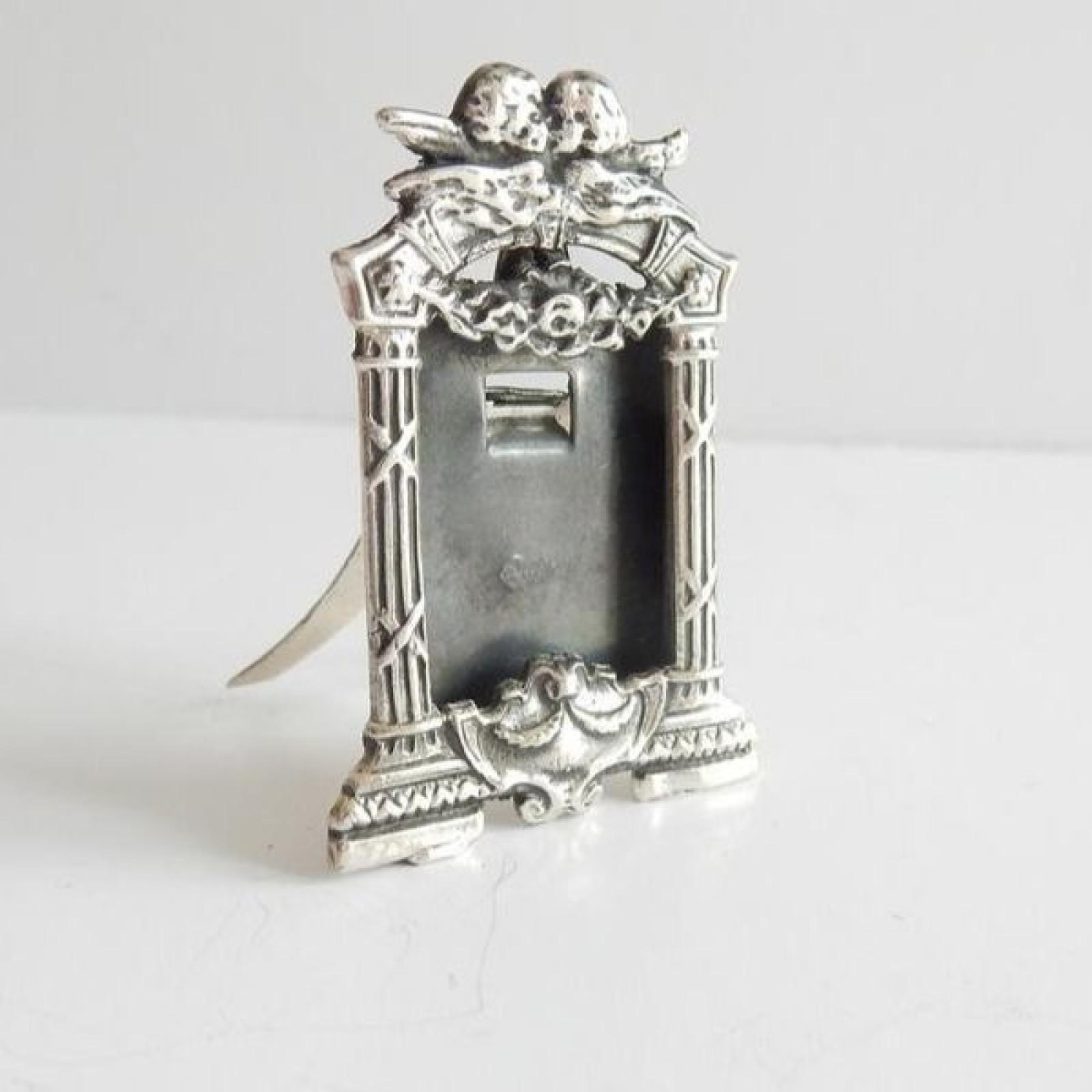 Photo of Solid Silver Mini Cherub Photograph Frame