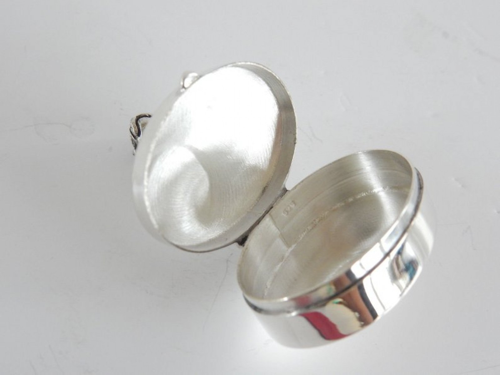 Solid Silver Figural Pug Dog Pill Box