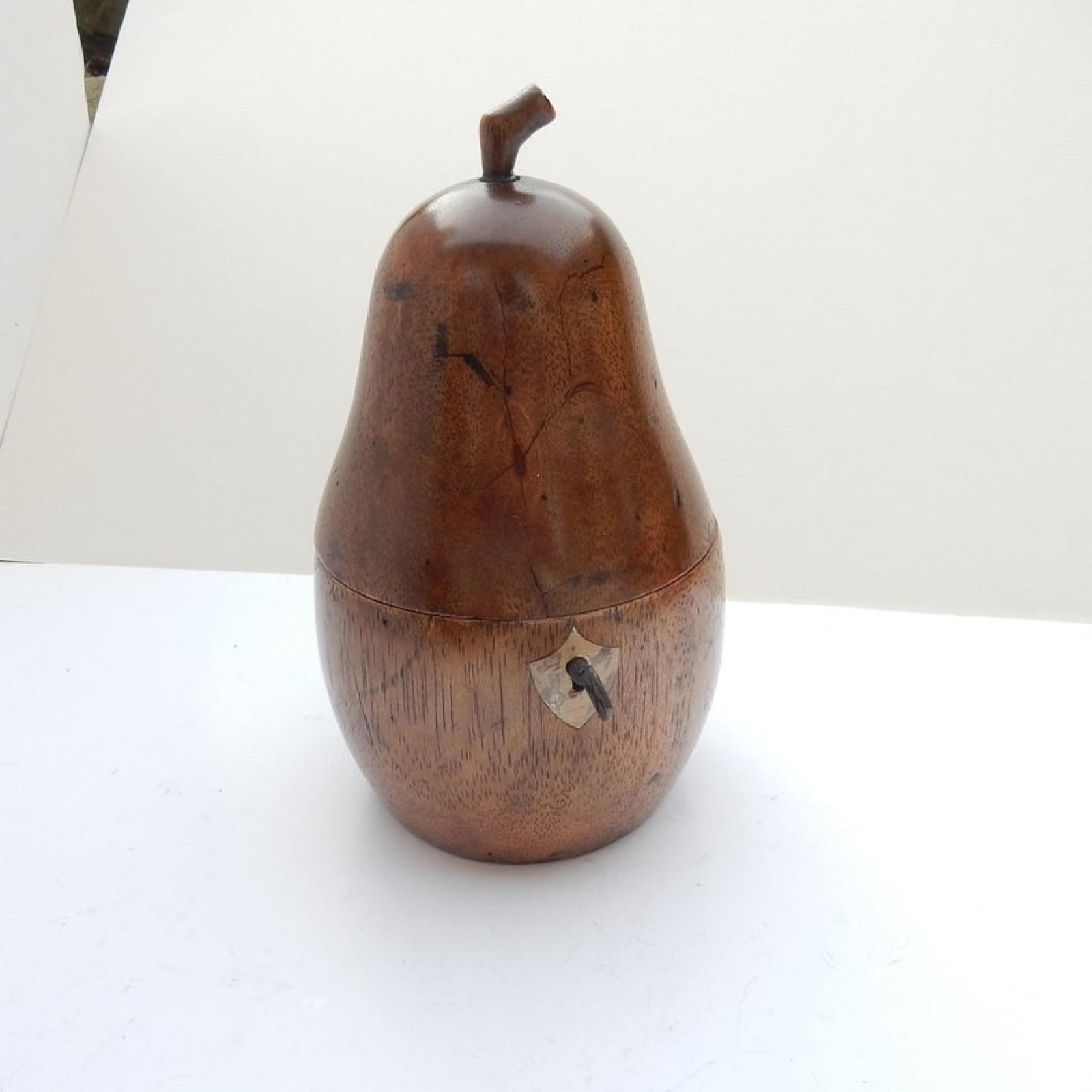 Photo of Treen Wood Pear Tea Caddy