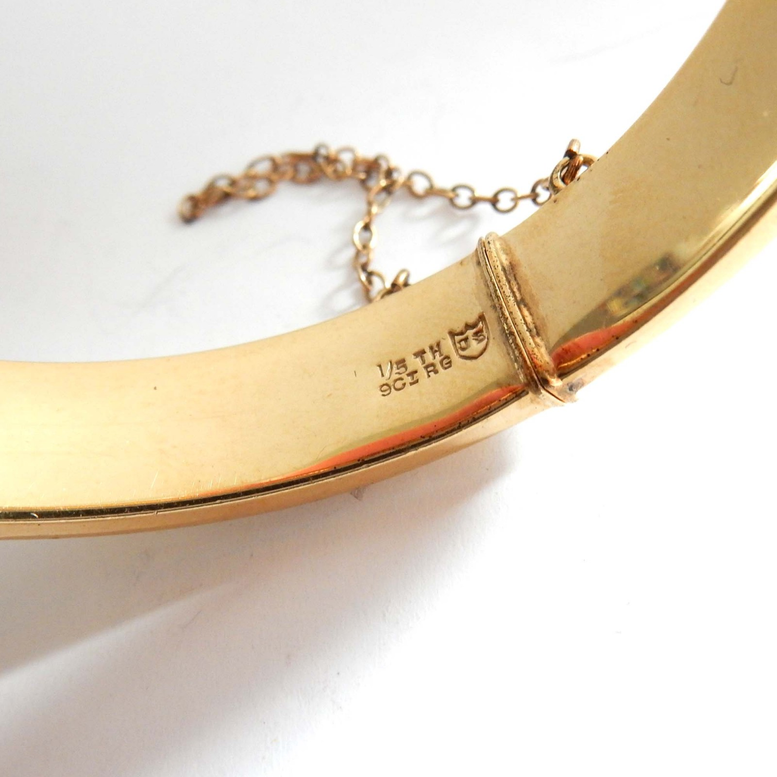 Photo of Vintage 9ct Rolled Gold Buckle Bangle Bracelet