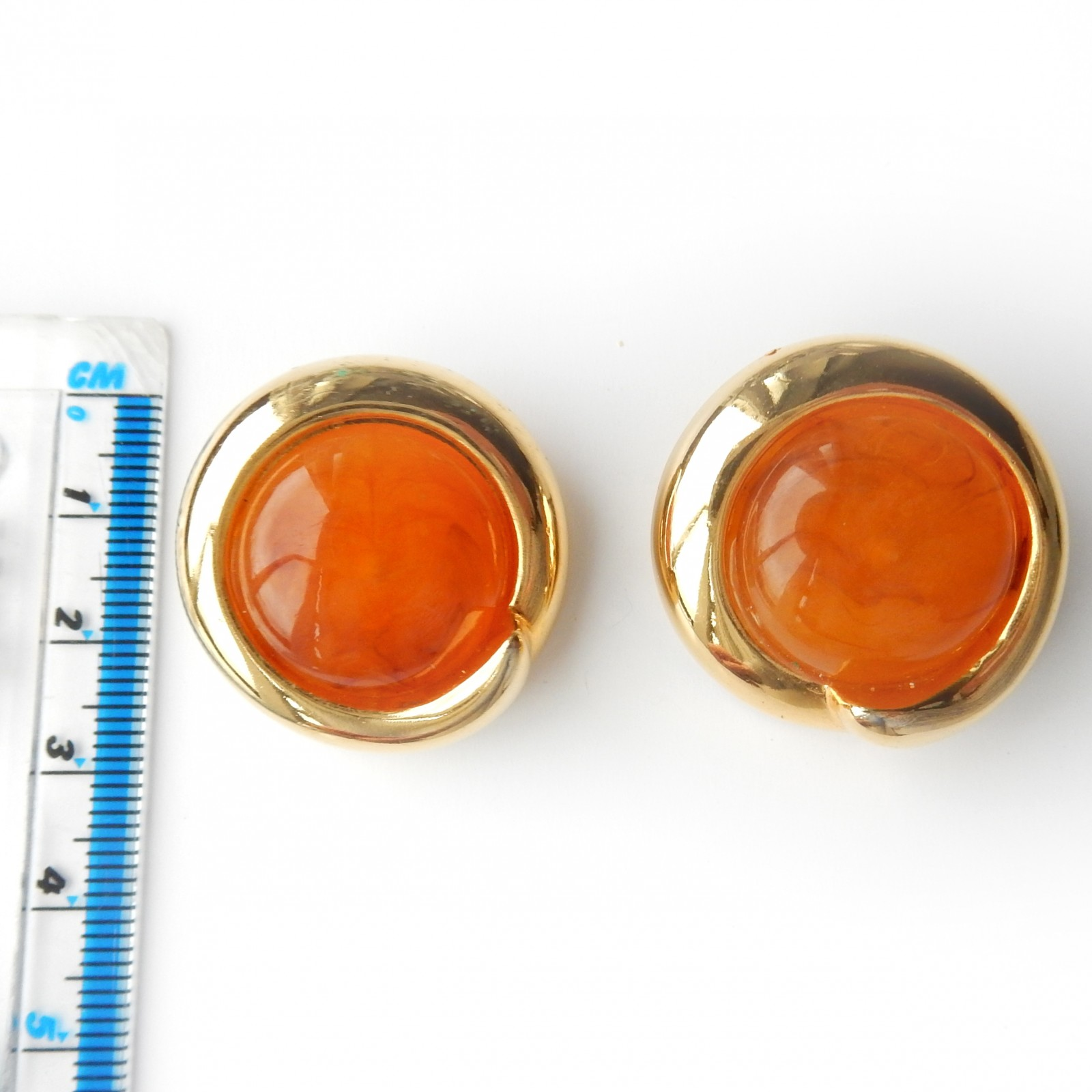 Photo of Vintage Amber Clip on Earrings