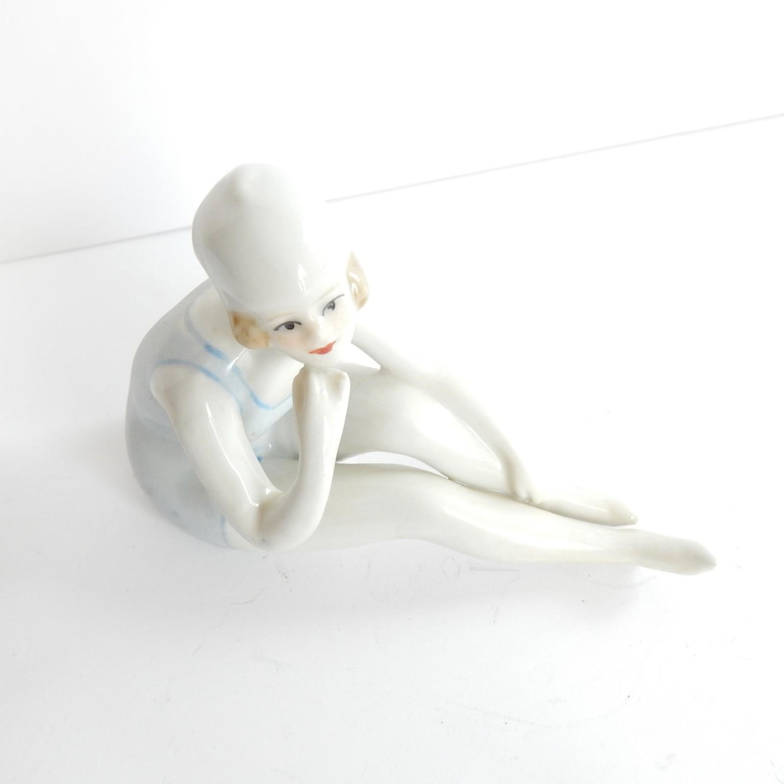 Photo of Vintage Art Deco Porcelain Bathing Beauty Flapper Girl