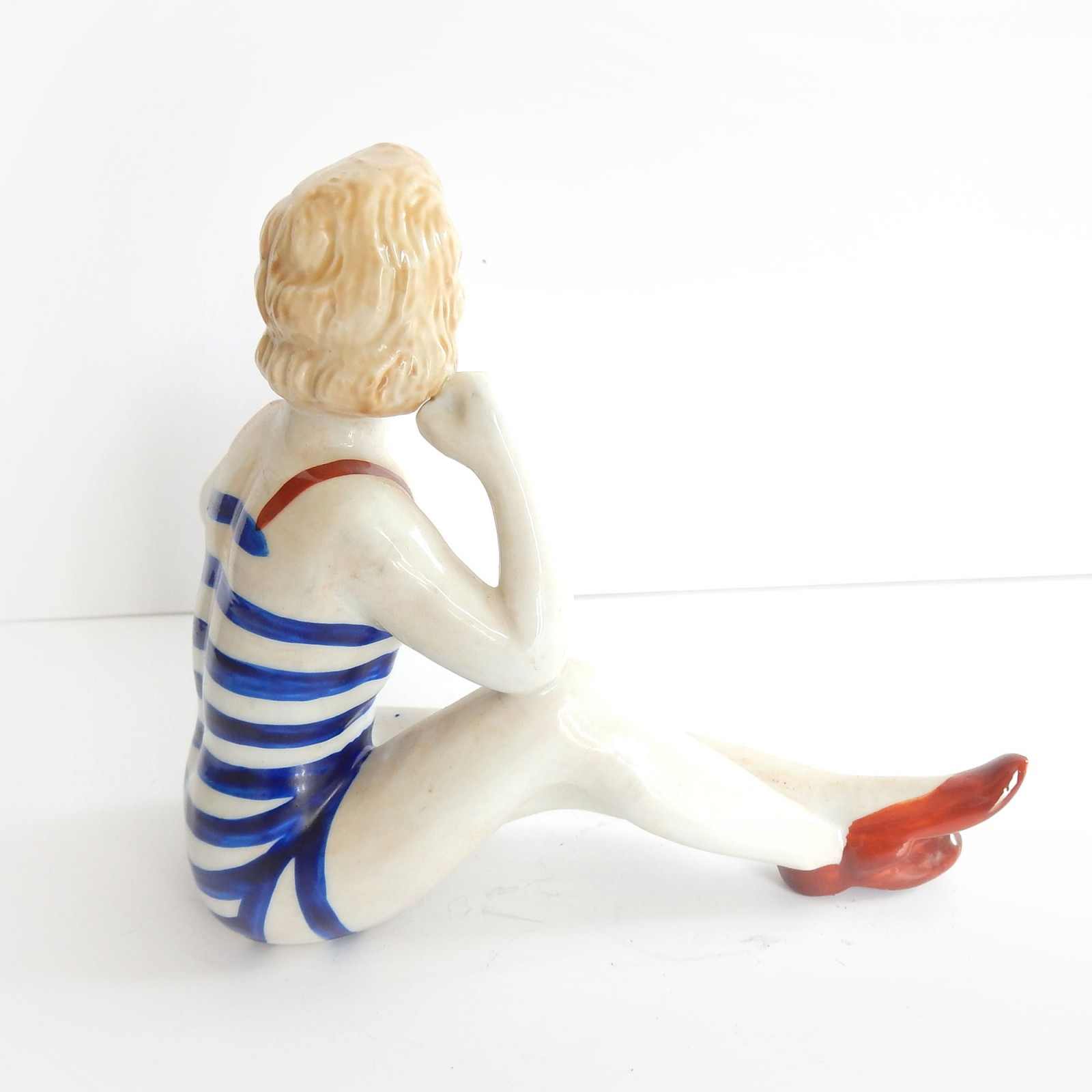 Photo of Vintage Art Deco Porcelain Bathing Beauty Flapper Girl Ornament