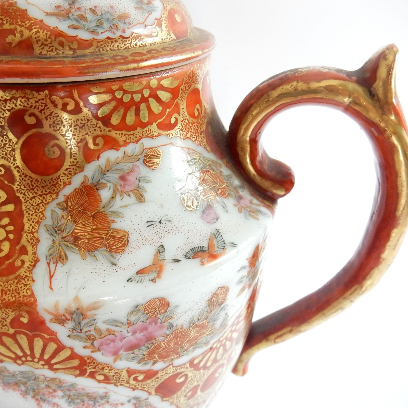 Photo of Vintage Chinese Hand Painted Kutani Porcelain Ceramic Tea Pot