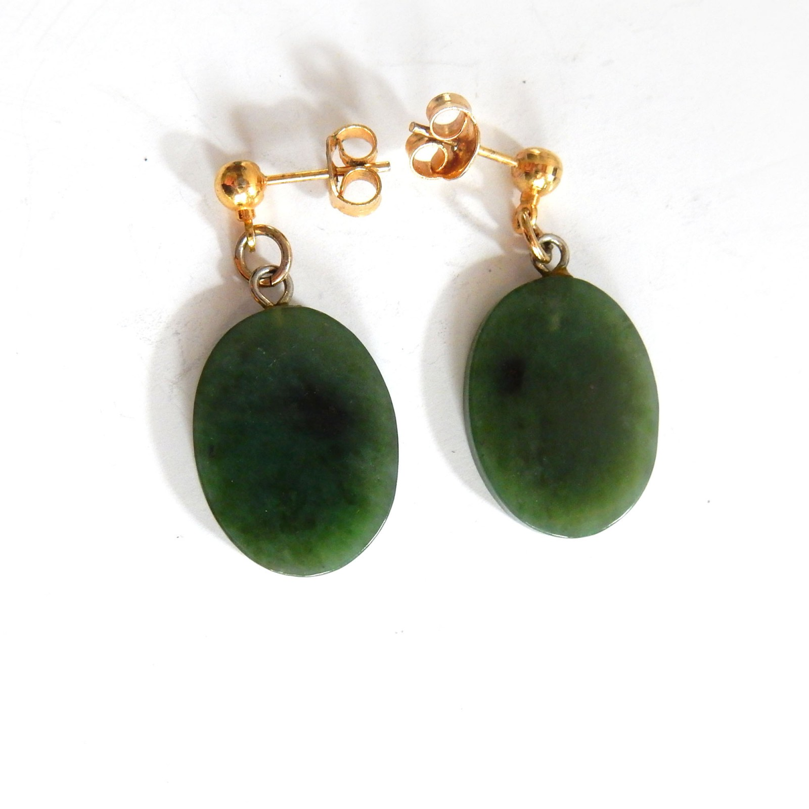 Photo of Vintage Chinese Jade Earrings
