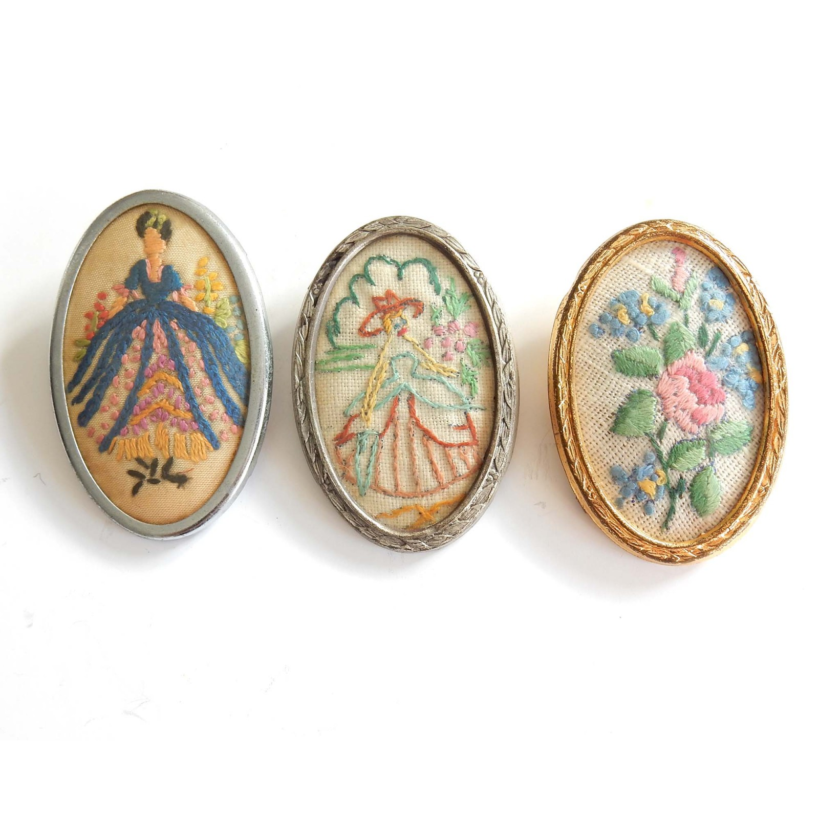 Photo of Vintage Petit Point French Cameo Brooch