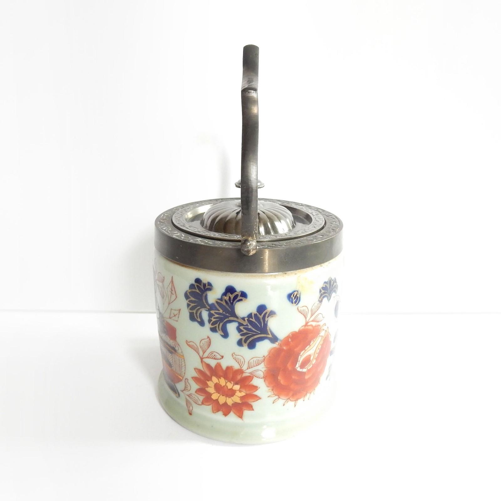 Photo of Vintage Porcelain Oriental Imari Biscuit Barrell Ironstone Ceramic