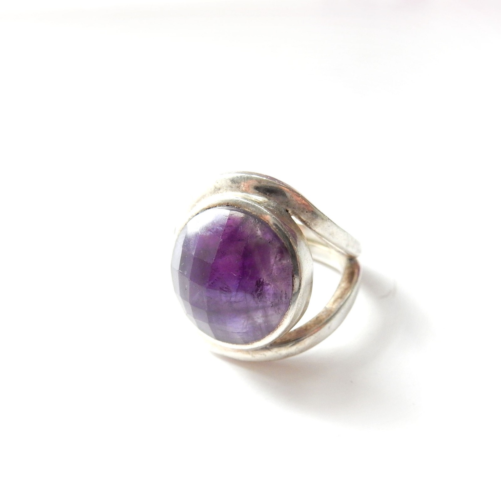 Photo of Vintage Purple Amethyst Ring Sterling Silver US Size 8 February Birthstone
