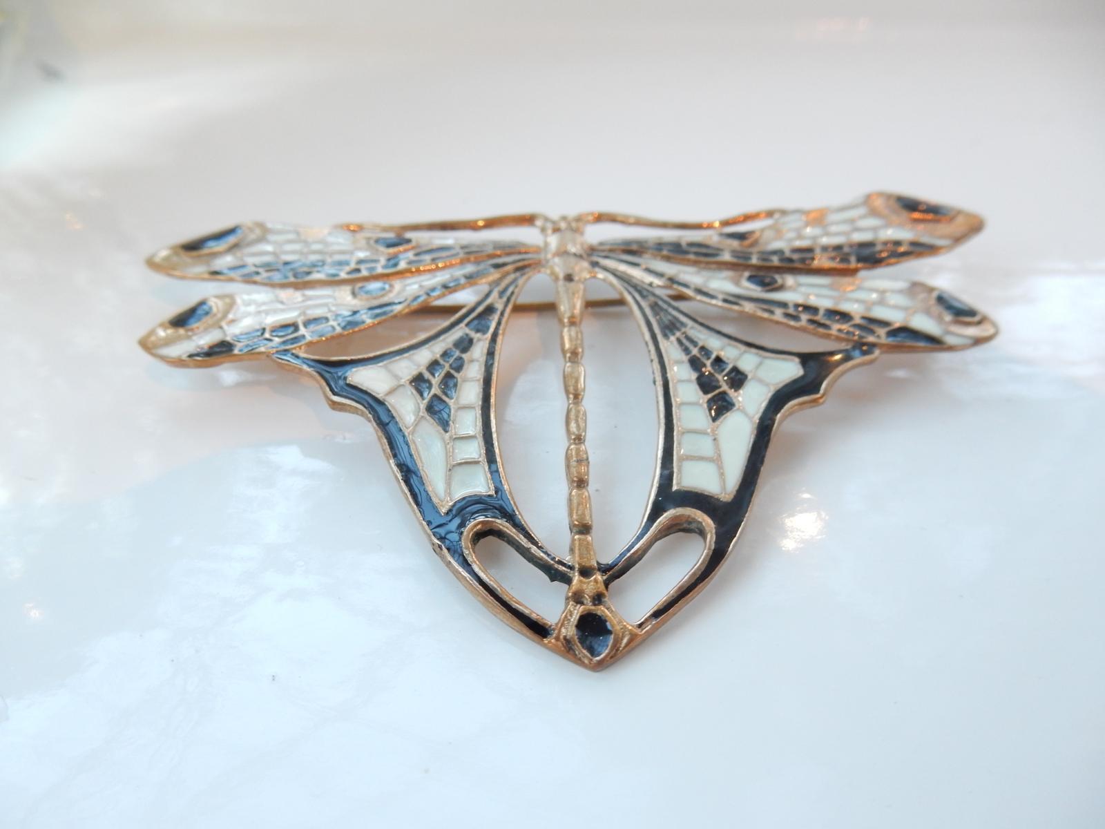 Photo of Art Deco Enameled Butterfly Brooch