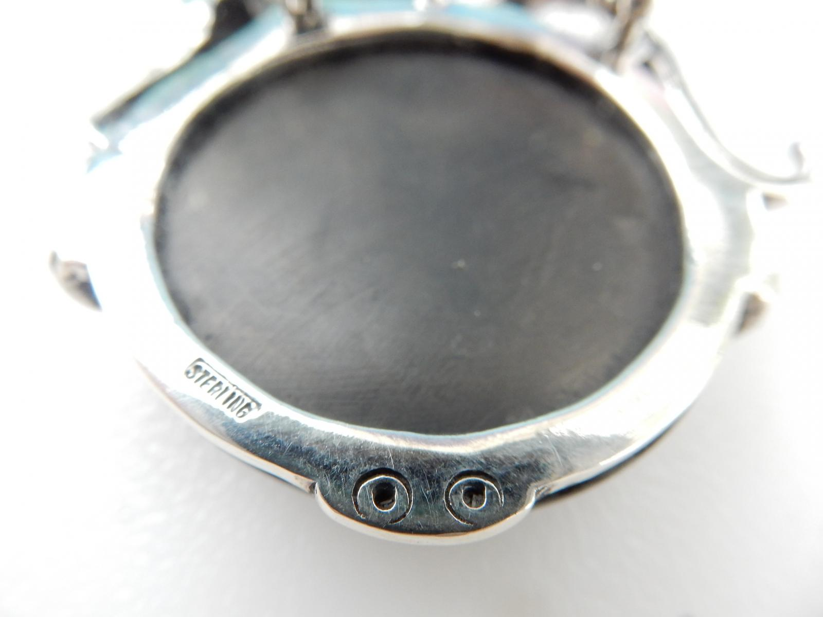 Photo of Sterling Silver Onyx Jaguar Pendant