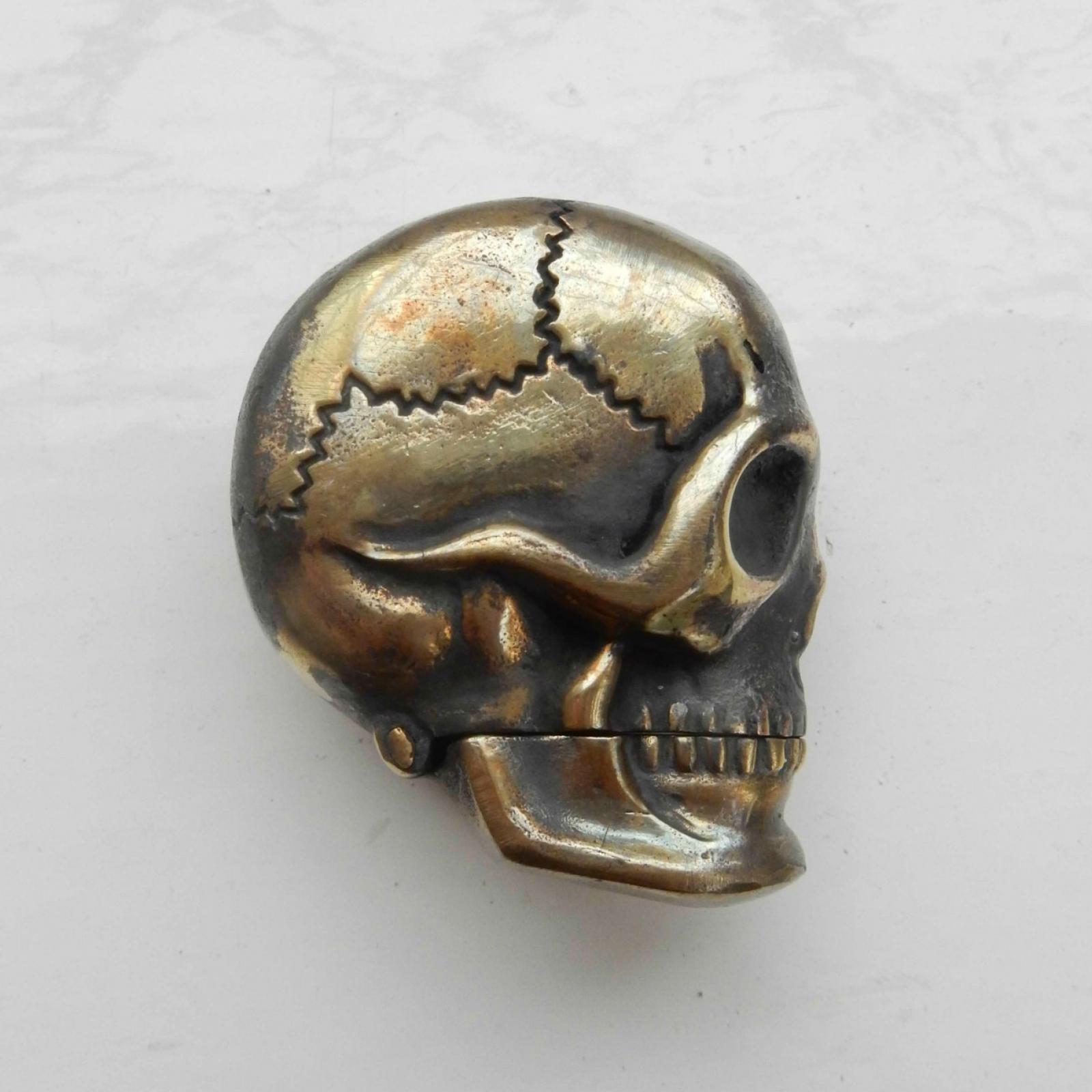 Photo of Brass Human Skull Vesta