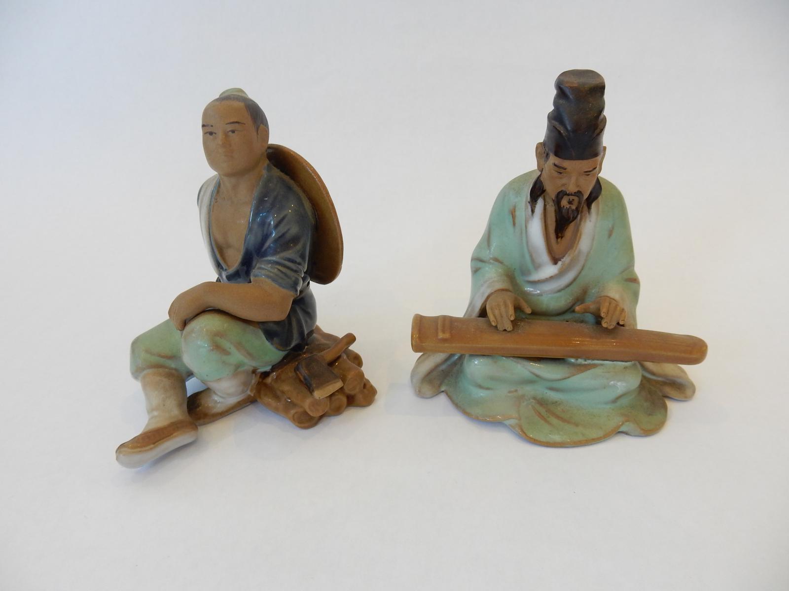 Photo of Pair Chinese Gentleman Figurines