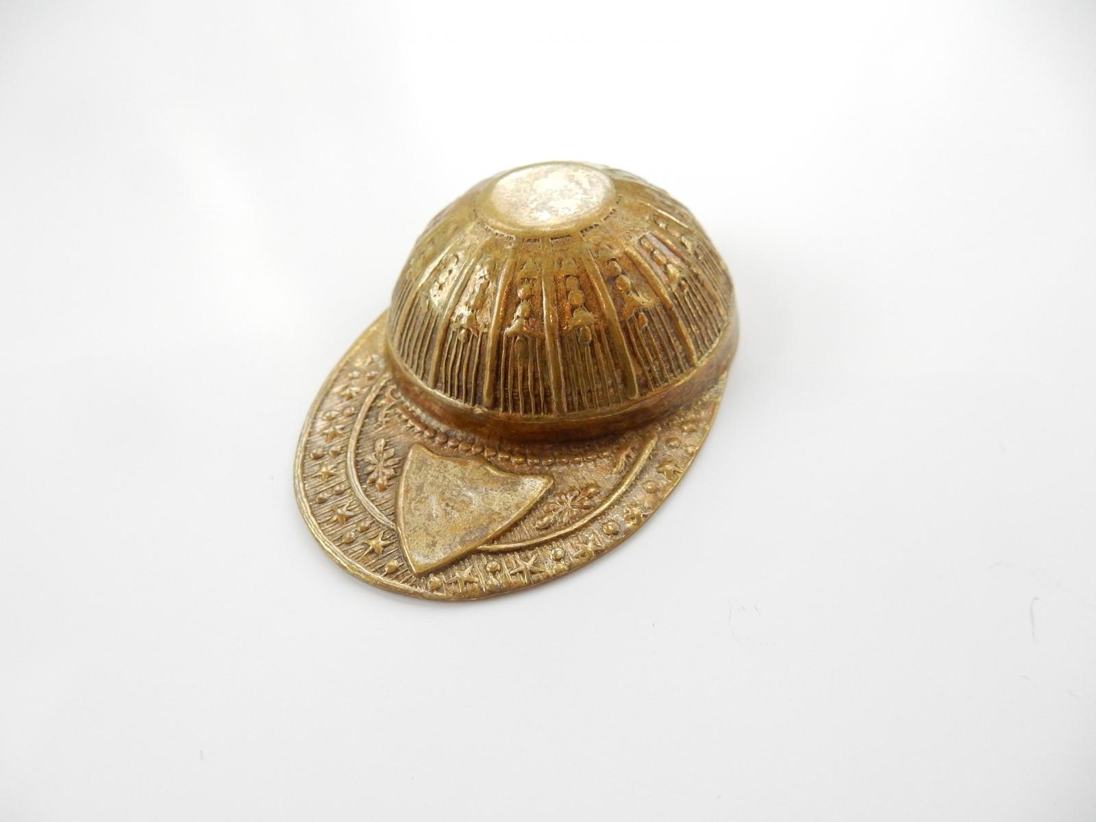 Photo of Brass Caddy Spoon in Form of Jockey Cap
