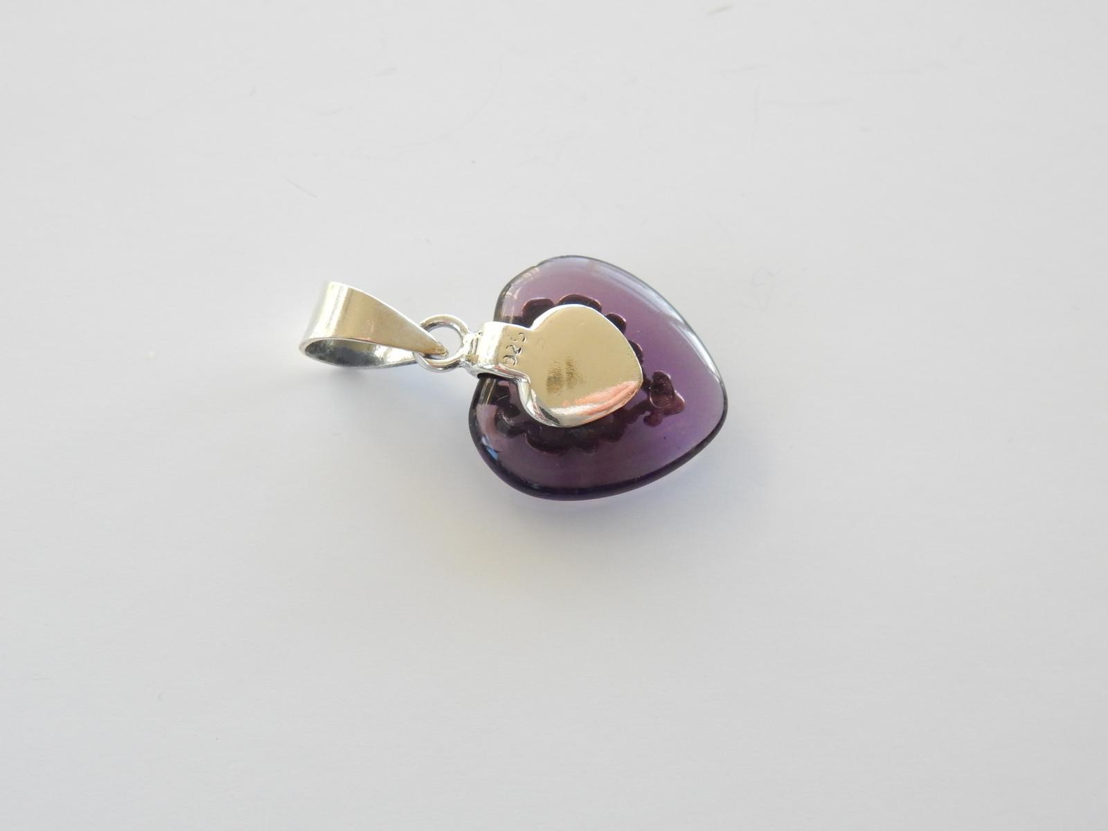Photo of Filigree Silver Amethyst Heart