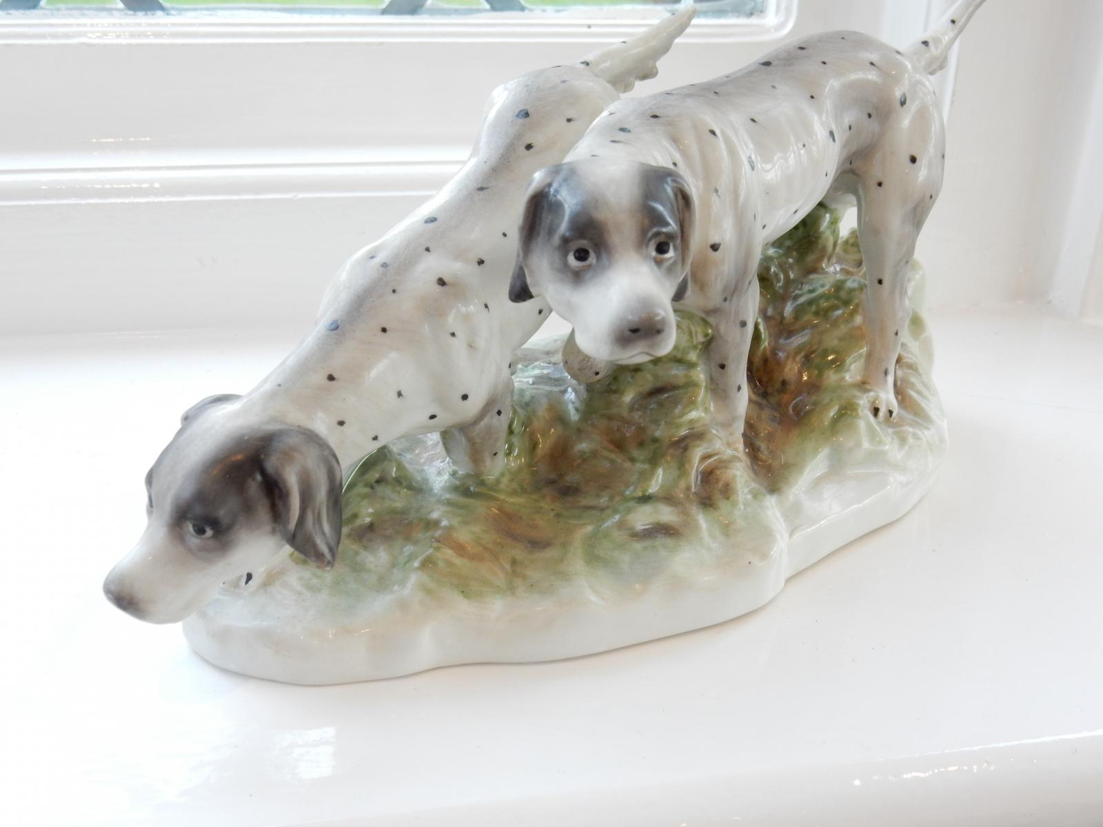 Photo of German Porcelain Pointer Dog Figurine