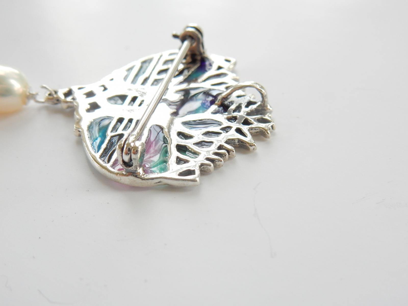 Photo of Plique a Jour Pearl Tree of Life Pendant