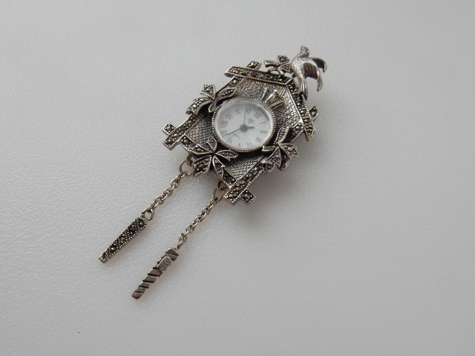 Photo of Silver Marcasite Cuckoo Clock Pendant